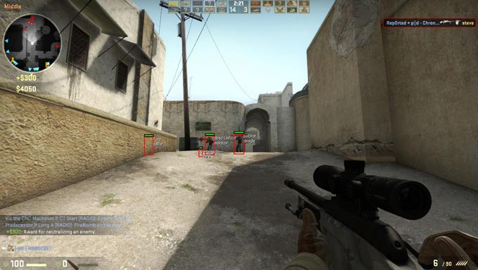cs wall hack